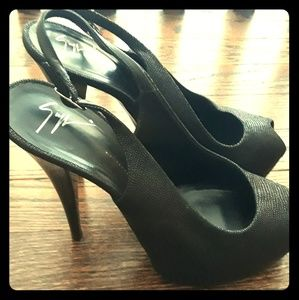 Giuseppe black heels